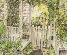 Garden Gate watercolour 1995 Greeting Card (EGI)
