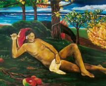 Reclining Tahitian nude