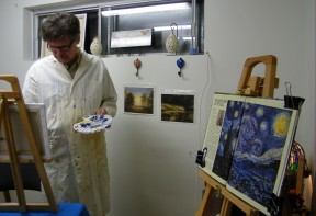 Ted painting